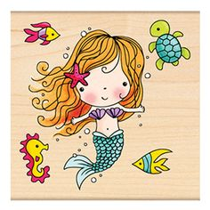 Mimi the mermaid. Rubber stamp -Penny Black, Inc.