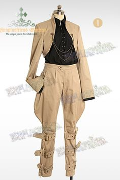 Time Traveler Steampunk Open Front Shrug Unisex Jacket&Chains*2colors Instant Shipping - $41.20