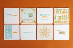 Anthem Worldwiderecently designed this set of vibrant letterpress coasters as apromotional piece for2013
