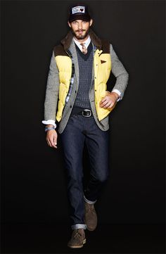 Men's Fashion Hairstyle, Male, Fashion, Men, Amazing, Style, Clothes, Hot, Sexy, Shirt, Pants, Hair, Eyes, Man, Men's Fashion, Riki, Love, Summer, Winter, Trend, shoes, belt, jacket, street, style, boy, formal, casual, semi formal, dressed Handsome tattoos, shirtless Todd Snyder Sweater Vest #Nordstrom #GQSelects #Men