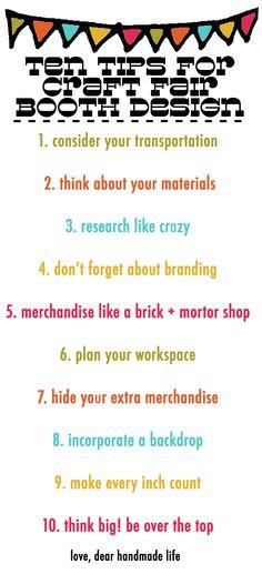 ten tips for craft fair, craft show, market, bazaar booth design - dear handmade life Craft Show Booths, Craft Booth Displays, Craft Show Ideas, Display Ideas, Stall Display, Vendor Displays, Shop Displays, Craft Font, Craft Stalls