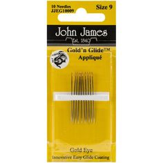 Gold'n Glide Applique Hand Needles-Size 9 10/Pkg