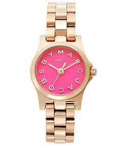 Marc by Marc Jacobs Watch, Womens Dinky Rose Gold Ion-Plated Stainless Steel Bracelet 21mm MBM3203 - All Watches - Jewelry & Watches - Macys