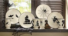 4-Piece Halloween Plate Set from Through the Country Door® | NW711388