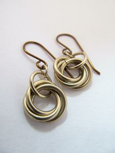 Nickel Chainmaille Earrings on Vintage by phoenixmtncreations. simple but lovely.