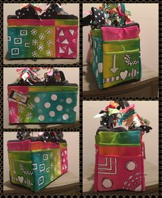 Painted canvas tool bag from Harbor Freight. Canvas Tool Bag, Canvas Totes, Diy Bags, Craft Bags, Painted Picnic Tables, Painted Canvas Bags, Bible Doodling, Tote Tutorial, Watercolor Tutorials