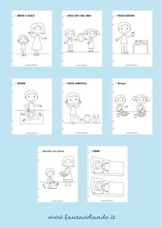 Teaching Activities, Educational Activities, Activities For Kids, School Tomorrow, Learning Italian, Step By Step Drawing, Pixel Art, Montessori, Routine