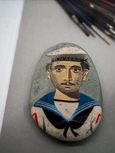 Benaki exhibition on Bost Pebble Mosaic, Painter Artist, Greek Art, Pebble Painting, Island Girl, Greek Islands, Clay Crafts, Sailor, Contemporary Art