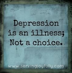 End the stigma attached to mental illness. If it was a choice, imagine how many doctors and therapists would be out of a job...