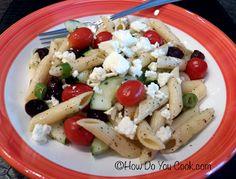 How Do You Cook.com: Greek Pasta Salad
