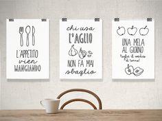 Set of prints Kitchen decor kitchen art kitchen door ShufflePrints
