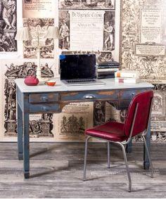 #Escritorio #mesa #work #oficna #despacho #teletrabajo #escritorioazul #bluedecor #interiorismo #design #muebles #tiendademuebles #mueblesrestaurados #acogedor #zonadeestudios #decolovers Home Office, Office Desk, Furniture, Home Decor, Old Desks, Wooden Desk, Solid Wood, Refurbished Furniture, House Decorations