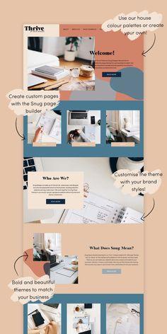 Thrive Wordpress Theme - Snug Designs - Web Design - Thrive WordPress Theme by Snug Designs Layout Design, Design De Configuration, Site Web Design, Web Design Tutorial, Website Design Layout, Web Layout, Blog Layout, Graphic Design Websites, Simple Website Design