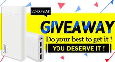 Free 22400mAh Power Bank Giveaway!Come!Get it!