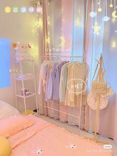 Cute Bedroom Decor, Room Design Bedroom, Bedroom Ideas, Pastel Room Decor, Otaku Room, Study Room Decor, Cute Room Ideas, Kawaii Room, Minimalist Room