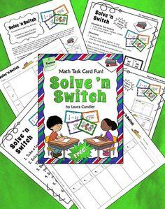 Classroom Freebies: Laura Candler's Solve 'n Switch Freebie
