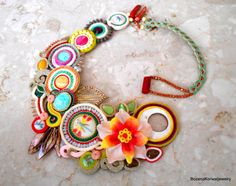 large soutache necklace by BozenaKorwatJewelry on Etsy