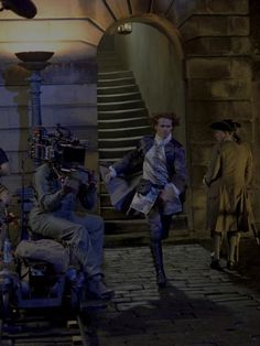 BTS still from The Making of Outlander.  Got mine yesterday!  Fabulous!