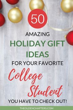 The Ultimate College Student Holiday Gift Guide - The Olden Chapters The ultimate list of fun and functional Christmas gift ideas for college students ranging from extravagant to cheap gift. Gifts For College Boys, College Gift Baskets, College Student Gifts, Gifts For Girls, College Students, Student Christmas Gifts, Christmas Gift Exchange, Cheap Christmas Gifts, Cheap Gifts