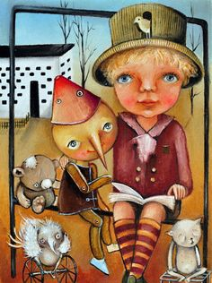 De la ficción a compartir la realidad (ilustración de Monica Blatton)