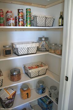 DIY Pantry Shelves | White Butterfly