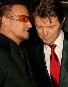 David Bowie and Bono