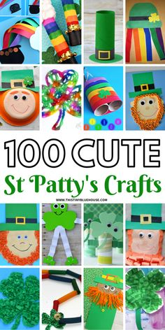 Help your kids get excited about St Patty's day with these adorable and creative St Patrick's Day Crafts For Kids. With 100 crafts to choose from you're guaranteed to have hours and hours of crafting fun. Diy St Patrick's Day Crafts, St Patricks Day Crafts For Kids, Winter Crafts For Kids, Holiday Crafts, Fun Crafts, Bible Crafts, Craft Activities, Preschool Crafts, Saint Patrick's Day