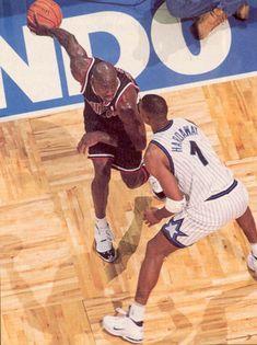 Michael Jordan wearing Air Jordan XI 11 Concord (18)