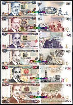 Kenya banknotes - Kenya paper money catalog and Kenyan currency history Money Template, Money Worksheets, Money Notes, Euro Coins, Coin Art, Old Money, Kenya, Bank Account Balance, Catalog