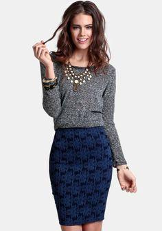 Love Affair Brocade Skirt