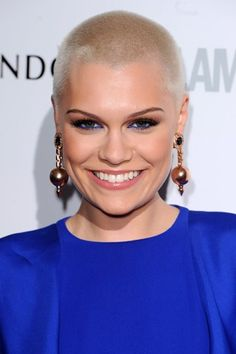 "Jessie J: ""There's no point shaving your head for charity if you're going to grow it back the next day"" LOVING her eye makeup"