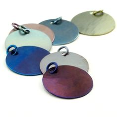 Precious Metal Stamping Blanks and Tag Supplies - The Beading Gem's Journal Blue And Silver, Dark Blue, Stamped Jewelry, Metal Jewelry, Beaded Jewelry, Piercing, Titanium Jewelry, Diy Crafts Jewelry, Grains