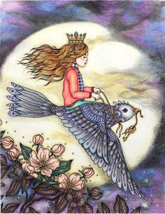 Dagdrömmar, HannaKarlzon,  moon, night, princess