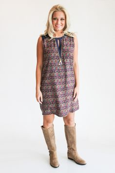 printed shift dress – gallery. boutique