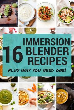 16 Immersion Blender Recipes | My favorite kitchen appliance is definitely my stick blender because it can make so many things, including sauces, soups, lattes, whipped cream, and so much more. Learn my best tips for how to use an immersion blender, including tons of recipes that use a blender. This post is sponsored by Braun. #ConquerTheExpected #MultiQuick9 via @laceybaier