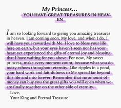 His Princess: Love Letters from Your King - Sheri Rose Shepherd (You Have Great Treasure In Heaven)