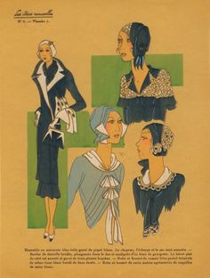Coats, hats, and blouses, 1930