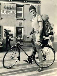 """Michael Palin as Mr. Pither on his Cycling Tour of north Cornwall in """"Monty Python's Flying Circus"""" Velo Vintage, Vintage Bikes, Monty Python, Thrasher, Nerd Boyfriend, Eric Idle, Michael Palin, Touring Bike, Bike Style"""