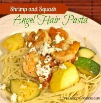 Summer Squash & Shrimp Pasta on MyRecipeMagic.com #shrimp #pasta #summer #squash