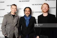 Will Poulter, Driector Alejandro Gonzalez Inarritu and Domhnall Gleeson attend a BAFTA Q&A of 'The Revenant' at Vue Leicester Square on December 6, 2015 in London, England.