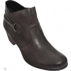 Womens leather ankle boots in brown color. Soft removable insole, zipper for the easier apply and non-slip sole. In large sizes from Remonte. Womens Leather Ankle Boots, Zipper, Brown, Fashion, Moda, Fashion Styles, Fashion Illustrations, Chocolates, Browning