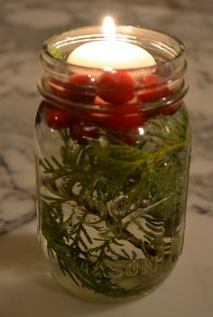 Floating cranberry lights...pretty for a wedding around christmas!