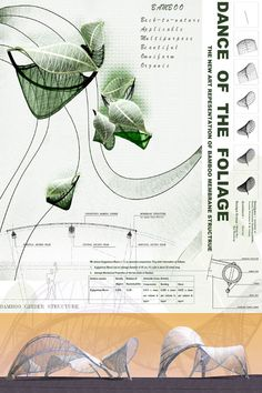 The China East Lake Tai international public art competition had participants submit installation designs that carry the best potential to enhance the East L. Biomimicry Architecture, Architecture Design Concept, Architecture Presentation Board, Pavilion Architecture, Organic Architecture, Futuristic Architecture, Minimalist Architecture, Conceptual Sketches, Bamboo Building