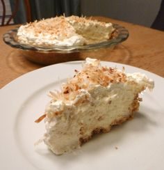 Coconut Cream Pie. I am obsessed with coconut!!!
