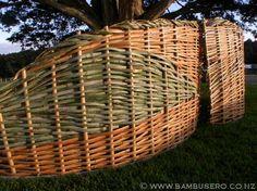 woven fences bamboo