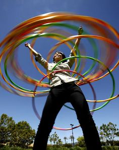 Hula Hoops were not new in the '80s, but they were very popular, along with jump ropes