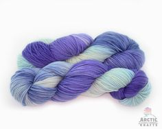 Twilight hand dyed worsted weight superwash merino by Arctickrafts