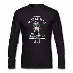 MUHAMMAD ALI Long Sleeve T Shirt #BoxingGloves #Boxing #Gloves #Ringside #Boxingshoes #youthboxing #headgear #training  #Groinprotection #corner #cornerjacket #boxingjacket #jersey #boxingjersey #boxingshorts #boxingtrunks #shorts #trunks #muhammadali #cassiusclay #retro #retroshirt #boxingshirt #southpaw #floatlikeabutterflystinglikeabee #tmt
