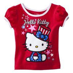 Hello Kitty Infant Toddler Girls' Short-sleeve Tee - Red
