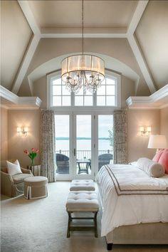 Schlafzimmer Innengestaltung · Prachtvoller Kronleuchter